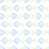 The pattern of rainbow fish on a white background. Stock Photography