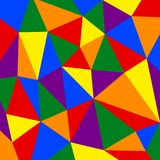 Pattern of Rainbow pride flag on polygon background stock photo