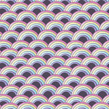 Pattern with rainbow. Seamless vector pattern with rainbow Royalty Free Stock Photo