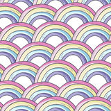 Pattern with rainbow. vector illustration