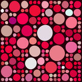 Pattern with random circles. Pattern with random colored and sized circles Stock Photography