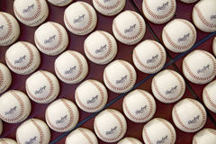 A pattern of Rawlings Major League Baseballs Stock Photo