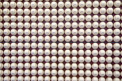 A pattern of Rawlings Major League Baseballs Stock Photography