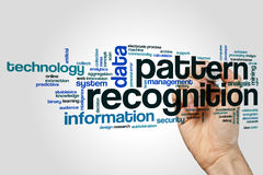 Pattern recognition word cloud. Concept on grey background Royalty Free Stock Photos