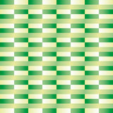 Pattern with rectangles in various shades of green relief effect Stock Photos