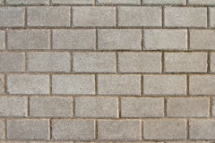 The pattern of rectangular paving blocks Stock Photos