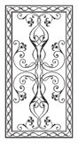Pattern for a rectangular table tops. Simetrichnyh pattern with floral ornament edged with openwork frame for use on tabletop Stock Photography