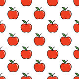 Pattern with red apples Royalty Free Stock Image