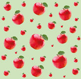 Pattern with red apples Stock Photo