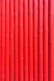Pattern of red bamboo panel Stock Image