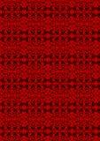 Pattern of red batik stock illustration