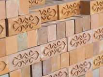 Pattern of red brick block royalty free stock images