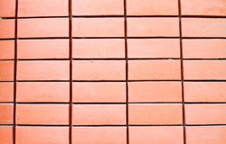 Pattern of red brick wall. Pattern and texture of red brick wall Royalty Free Stock Image