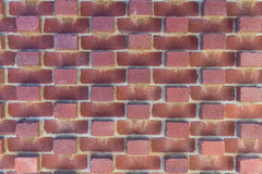 Pattern of red brick wall, Hobart Australia. Hobart, Australia - March 19. 2017: Tasmania. Closeup of part of red brick wall shows pattern of protruding bricks Stock Image