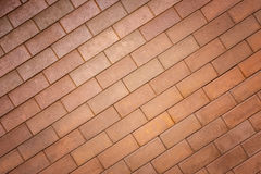 Pattern of red brick wall texture for background Royalty Free Stock Photography