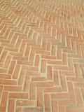 Pattern of red bricks walkway Stock Photos