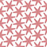Pattern of red bright, motley Christmas, New Year`s. Snowflakes. Vector illustration Royalty Free Stock Photography