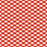 Pattern_Red Checkered e bianco Immagine Stock