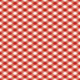 Pattern_Red Checkered y blanco Imagen de archivo