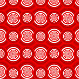 Pattern of red circles Stock Image