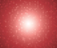 A pattern of red color hexagon shapes for background. Vector. Stock Photography