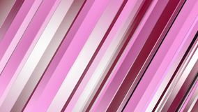 Pattern of red color strips prisms. Abstract background. 3D rendering illustration. stock video