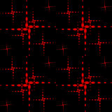 The pattern of the red crosses. White dotted crosses on a black background Royalty Free Stock Image