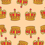 Pattern red crown style collection Royalty Free Stock Photos