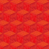 Pattern of red cubes background Stock Images