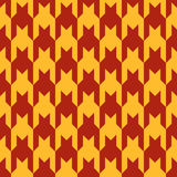 Pattern with red figures on a yellow background. Seamless pattern with red figures on a yellow background Royalty Free Stock Image