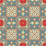 Pattern with red flowers Stock Photography