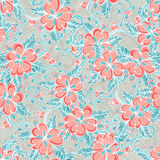 Pattern with red flowes Stock Photography