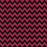 Pattern with red glitter textured chevron on black background. Royalty Free Stock Photos