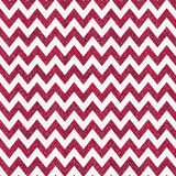 Pattern with red glitter textured chevron on white background. Stock Photography