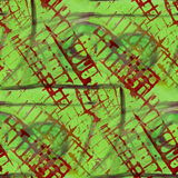 Pattern red, green design seamless watercolor Royalty Free Stock Photography