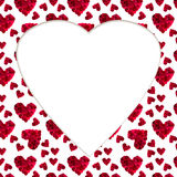 Pattern red heart rose petals workpiece card greeting. Pattern red heart rose petals on a white background workpiece card greeting stock photo