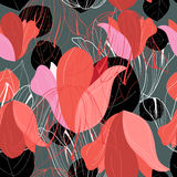 Pattern of red leaf Royalty Free Stock Photography
