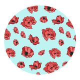 Pattern of red poppies Royalty Free Stock Images