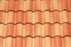 Pattern of red roof on house Royalty Free Stock Image