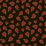 Pattern with red roses. Seamless vector pattern with red roses Royalty Free Stock Photos