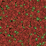 Pattern with red roses. Seamless vector pattern with red roses Royalty Free Stock Photography