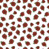 Pattern with red roses. Seamless vector pattern with red roses Stock Image