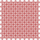 Pattern from red shapes like laces Stock Photos