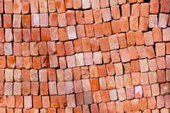 Pattern of red stapled bricks Stock Image