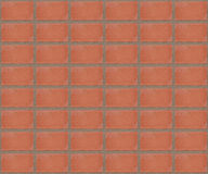 Pattern red symmetrical brick wall for background Royalty Free Stock Photography