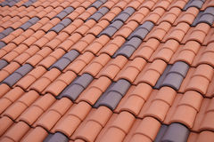 Pattern of red tile roof Stock Photos