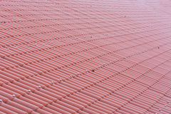Pattern of a red tile roof Royalty Free Stock Images