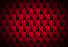 Pattern of red and twisted quadrangular 3d columns forming tower shapes Stock Images