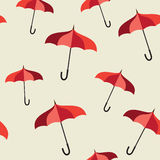 Pattern with red umbrellas Royalty Free Stock Images