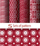 Pattern red and white Royalty Free Stock Photos